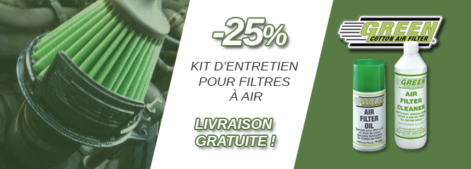 Kit entretien filtres à air GREEN