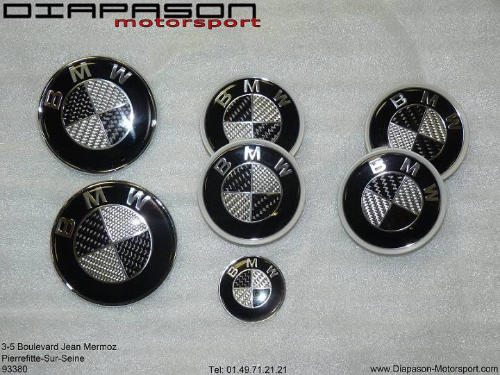 Emblèmes carbone BMW