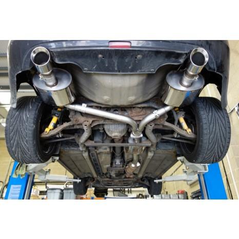 MILLTEK - Honda S2000 AP2 2.2 - 242ch - Ligne après catalyseur origine avec silencieux intermediaire - Silencieux Arrière double