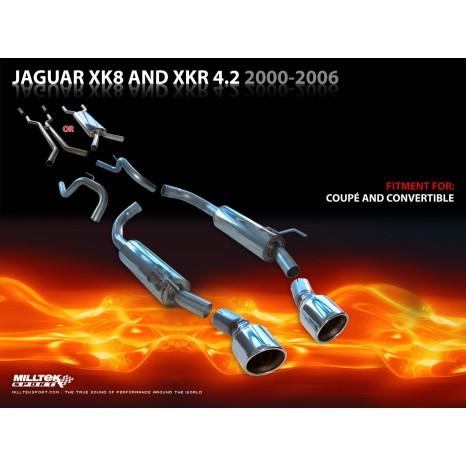 MILLTEK - Jaguar XKR 4.2 V8 - Ligne après catalyseur origine - Avec silencieux Intermediaire