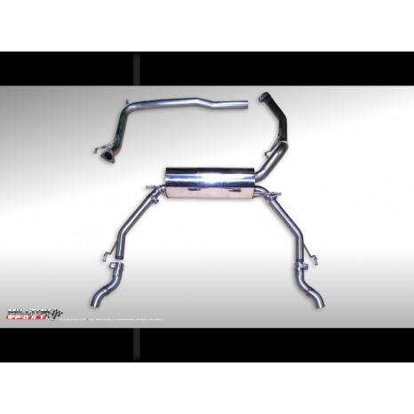MILLTEK - Honda Civic Type R - Ligne après catalyseur origine avec silencieux intermediaire - Montage sorties serie