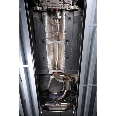 MILLTEK - Golf Mk6 GTi - Ligne après catalyseur origine - Avec silencieux Intermediaire- Dual 100mm GT-100