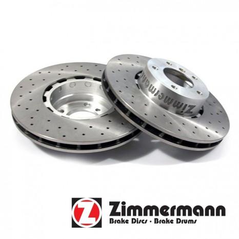 Disque de frein percés AR ZIMMERMANN - AUDI RS5  - V-330 x 22 x 68