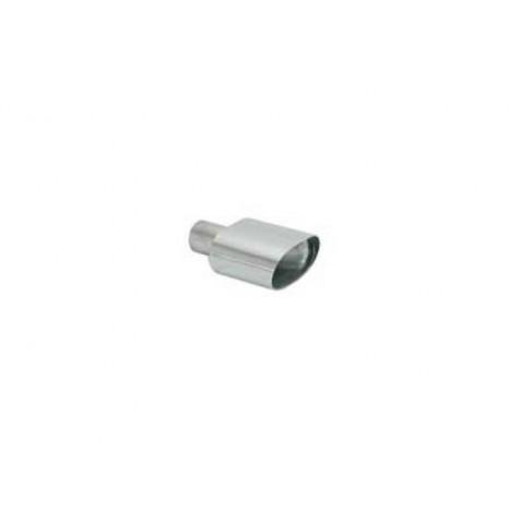 RAGAZZON - Sortie d'échappement ovale 128x80 mm en inox - diamètre intérieur du tube d'entrée 50 mm - longueur 180 mm