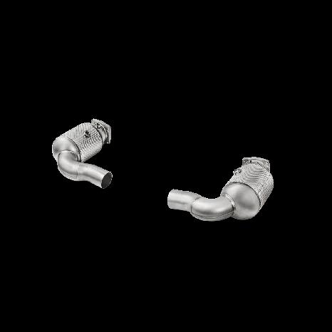 Link Pipe en inox avec catalyseur AKRAPOVIC - Porsche 911 Turbo / Turbo S (991.2) 2016 -> 2018