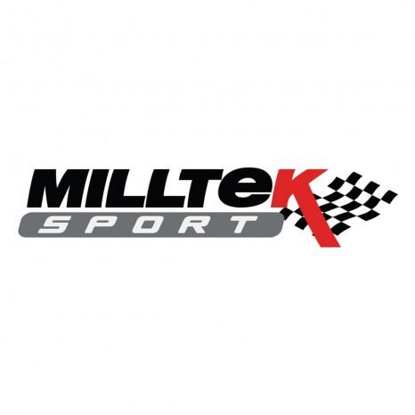 MILLTEK - Audi A3 2.0 TFSI - Ligne après catalyseur origine - Avec silencieux Intermediaire - Homologué CE - Sorties Twin Jet 76