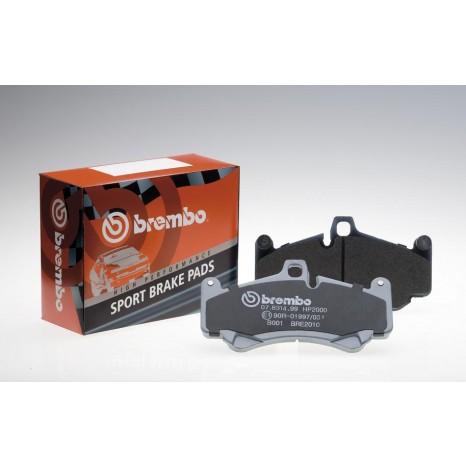 BREMBO HP2000 - Plaquettes de freins avant - Seat Leon 1M 1.4, 1.6, 1.8, 2.8, 1.9 SDI, 1.9TDI