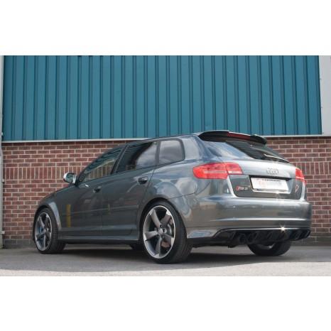 Ligne après catalyseur secondaire sans silencieux intermédiaire SCORPION - Audi RS3 8P 2011 -> 2012 - Sorties Daytona 90mm black ceramic