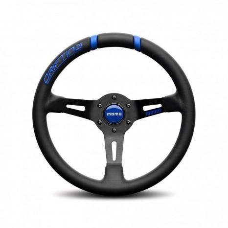 Volant DRIFTING MOMO - Noir/Bleu Ø33