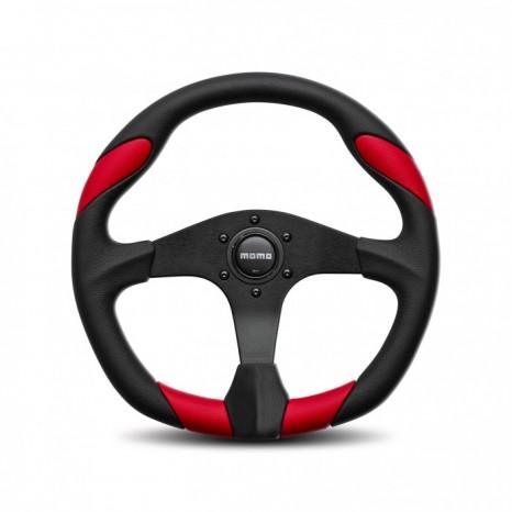 Volant QUARK MOMO - Noir/Rouge Ø35