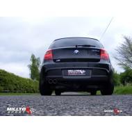 MILLTEK - BMW 1 Series (E88) 123D M Sport 3 Portes - Ligne après catalyseur origine - Sorties Doubles