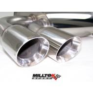 MILLTEK - Audi S3 2.0 T - Ligne après catalyseur origine - Sans silencieux Intermediaire - Sorties Twin Jet