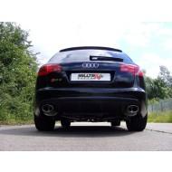 MILLTEK - Audi RS6 5.0 V10 Biturbo - Ligne après catalyseur origine - Avec silencieux Intermediaire - Sorties Ovales Homologué CE