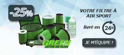 Promo filtres à air sport GREEN
